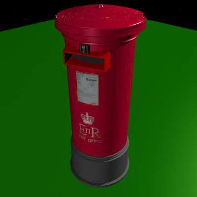 3d pillar post box model