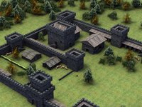3d model castle forts fantasy