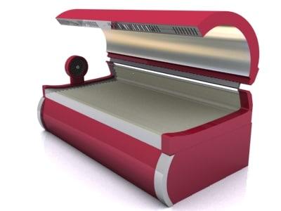 sunbed bed 3d model