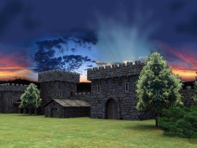castle forts fantasy 3d model