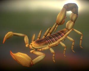 scorpion 01 3d max