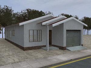 free house 02 3d model