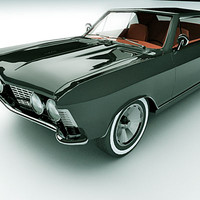 1963 buick riviera 3d model