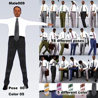 male man people 3d max