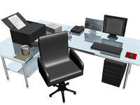 office cubicle 3d max