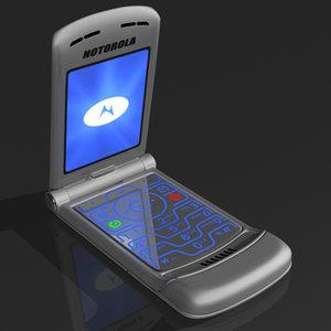 3d flip phone