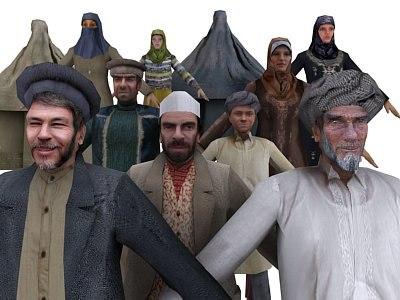 characters afghanistan iraq 3d model
