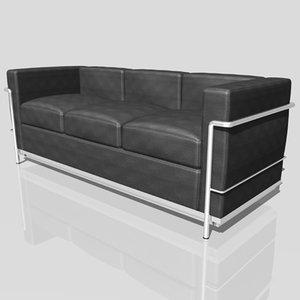 3ds le corbusier lc2 sofa