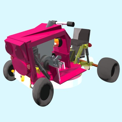 racing mower 3d model