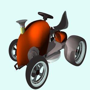 3d 3ds racing mower