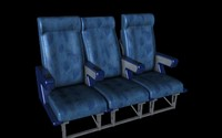 airline seating c4d