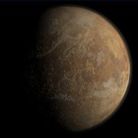 3d venus planet model