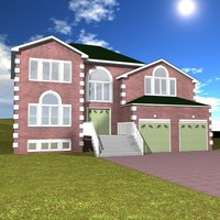 3d model house residential dwelling