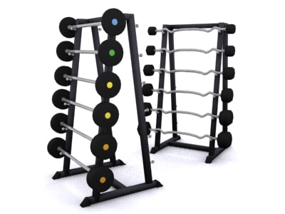 weight racks 3d model