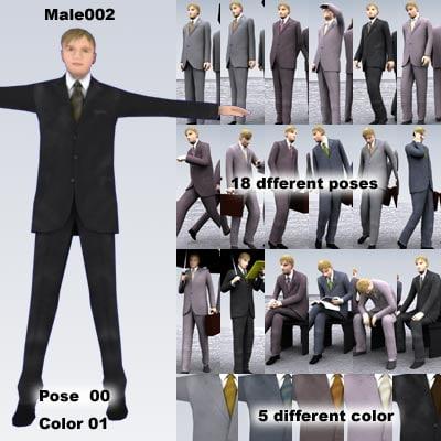 3d model male man people