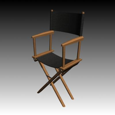 3d model movie chair