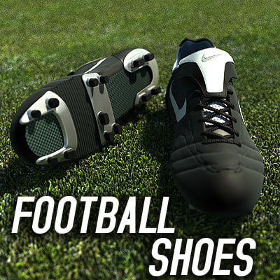 soccer shoes 3d model