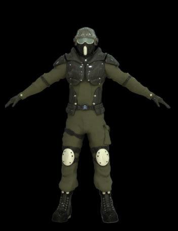 3d model of sci-fi soldier