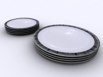 dish plates 3d model