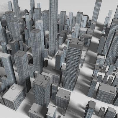 20 skyscraper 3ds