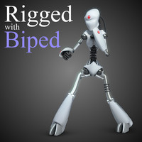 robot rigged biped 3d model