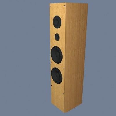 3d loudspeaker model