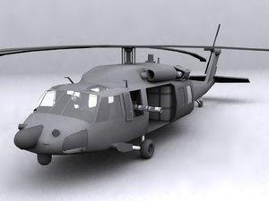 3d mh-60 blackhawk model