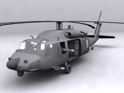 3d mh-60 blackhawk model