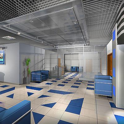 3dsmax interior office