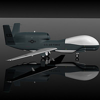 northop global hawk 3d model
