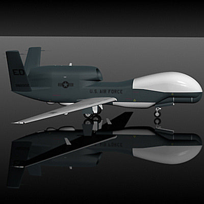 northop global hawk 3d model