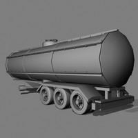 3d medium cistern truck model
