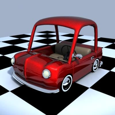 cute toy car 3d model
