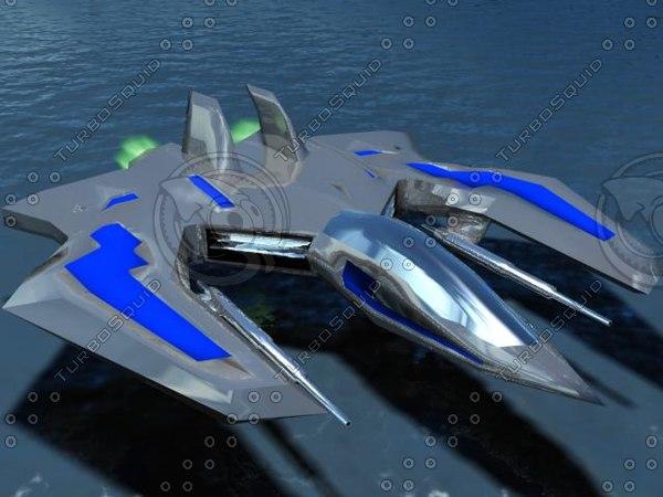 free spaceship 3d model