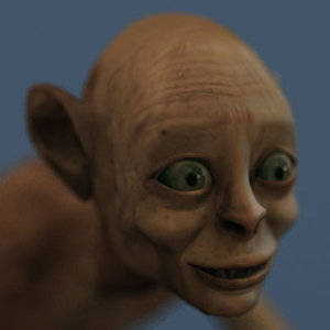gollum lord rings 3d model