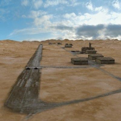 3ds max airfield desert air