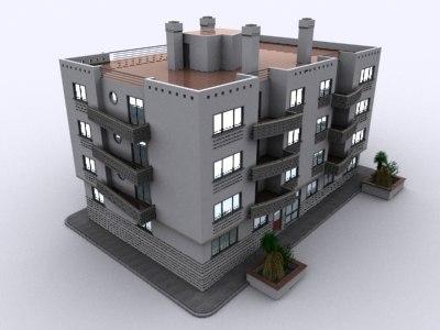 3d apartments model