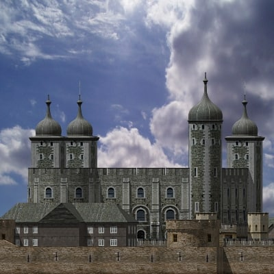 london tower 3d max