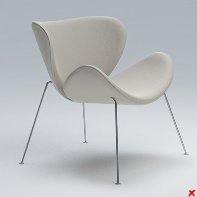 chair furniture 3d 3ds