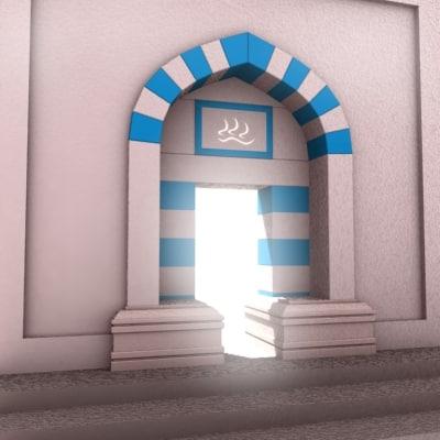 3d model of stone portal