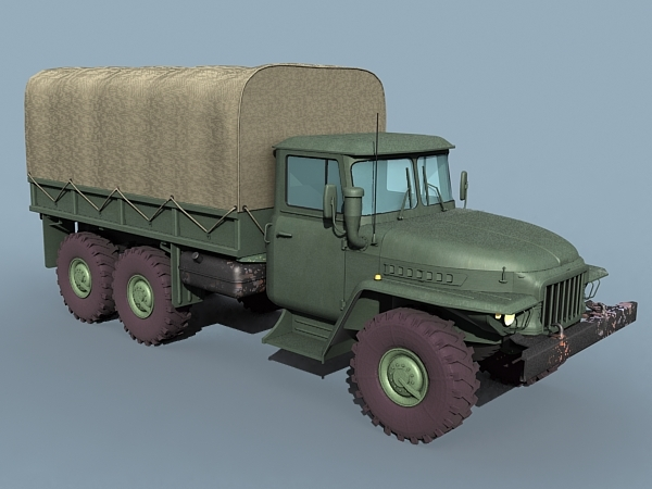 ural-375 truck 3d max