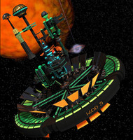 3d tycho space station virtual city model