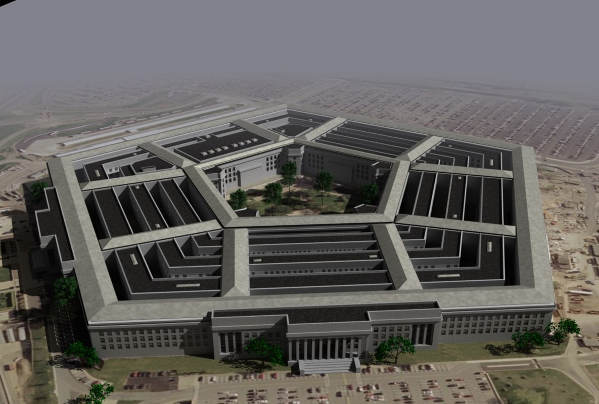 united states pentagon building 3d model