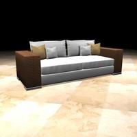 3d model basket weave sofa