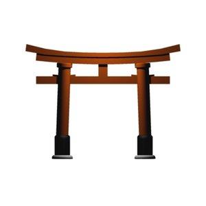 free torii shrine 3d model