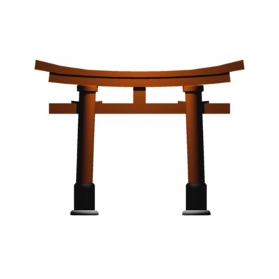 free torii shrine 3d model