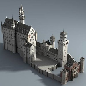 castle neuschwanstein 3d model
