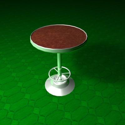 3d bar table