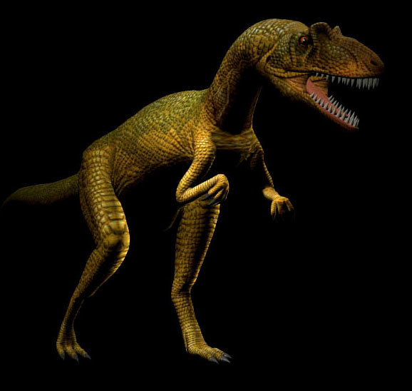 allosaurus dinosaur poser 3d model