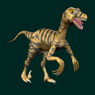 3d velociraptor raptor model